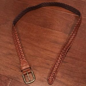 Accessories - Braided brown leather belt m/L